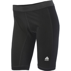Aclima WarmWool Long Shorts Women with Windstop Jet Black
